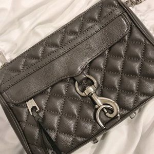 Rebecca Minkoff Gray Mini MAC Quilted Crossbody